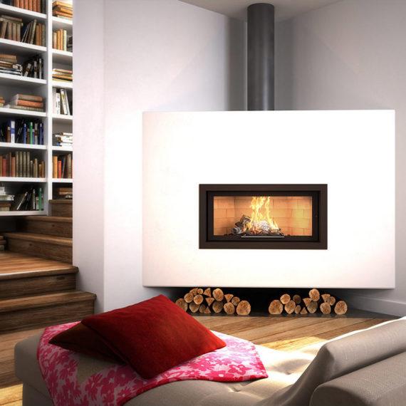 cheminee moderne 1 vitre Flam Cheminee Antibes et Nice