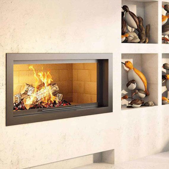 cheminee moderne 4 - 1 vitre Flam Cheminee Antibes et Nice