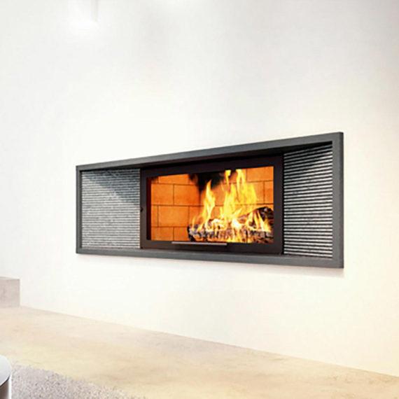 cheminee moderne 5 - 1 vitre Flam Cheminee Antibes et Nice