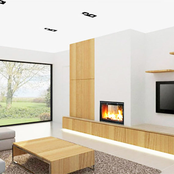 cheminee moderne 6 - 1 vitre Flam Cheminee Antibes et Nice