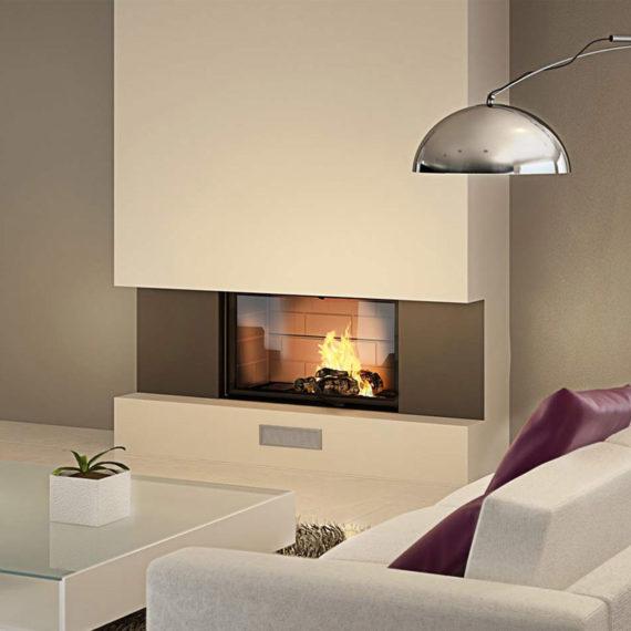 cheminee moderne 7 - 1 vitre Flam Cheminee Antibes et Nice