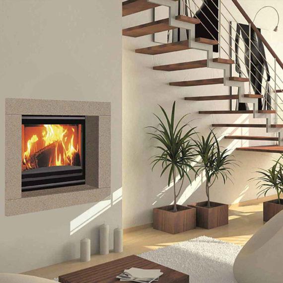 cheminee moderne 8 - 1 vitre Flam Cheminee Antibes et Nice