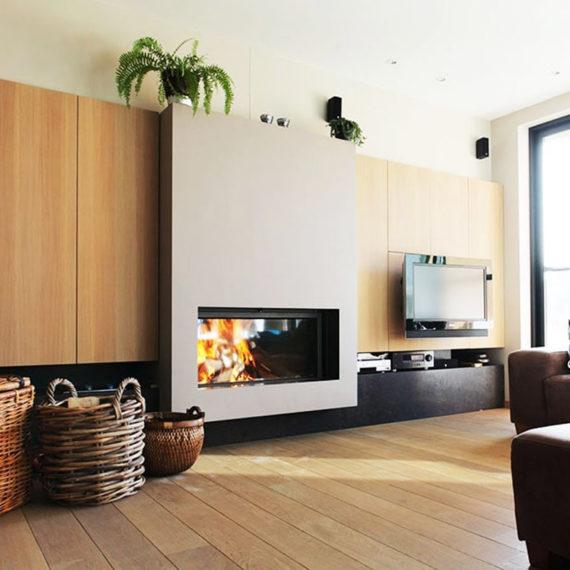 cheminee moderne stuv 21 - 1 vitre Flam Cheminee Antibes et Nice